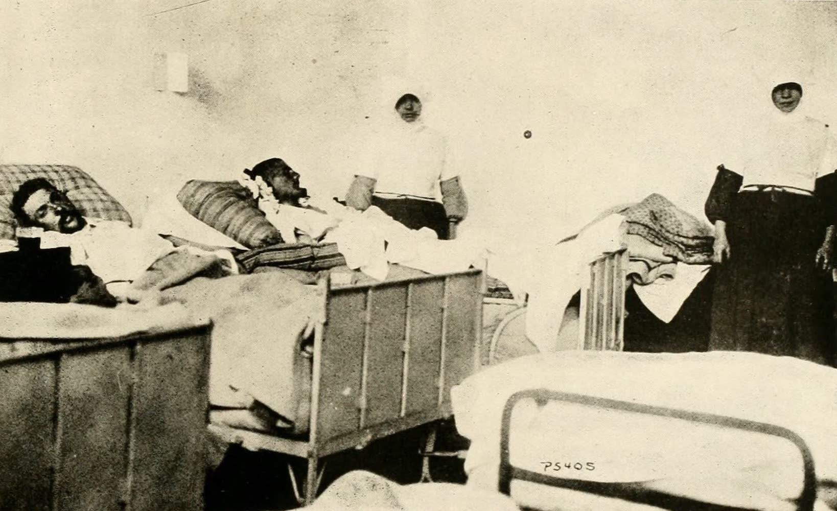 Laird & Lee's World's War Glimpses - Belgian Sisters and Wounded Germans to Whom They are Ministering (1914)