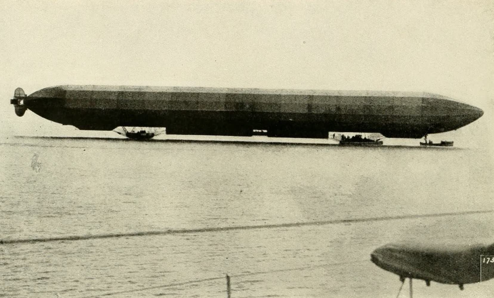 Laird & Lee's World's War Glimpses - Death Dealing German Zeppelin Riding on the Water (1914)