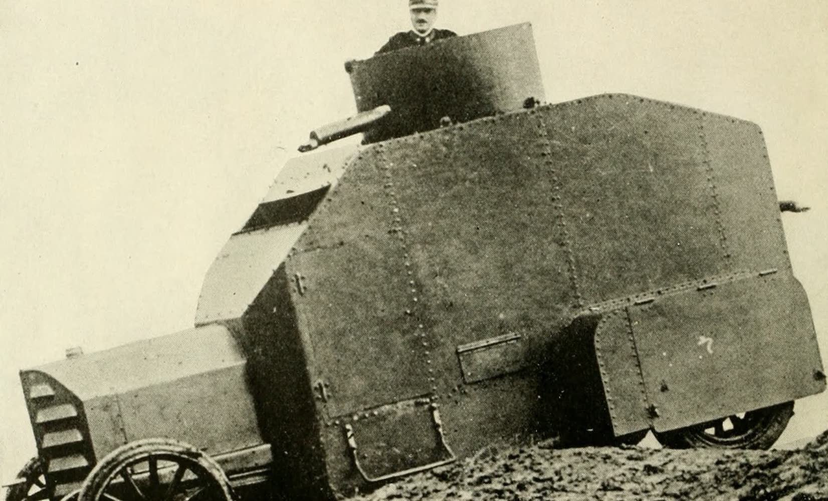 """Laird & Lee's World's War Glimpses - """"Iron-Clad"""" on Wheels, Used in War (1914)"""