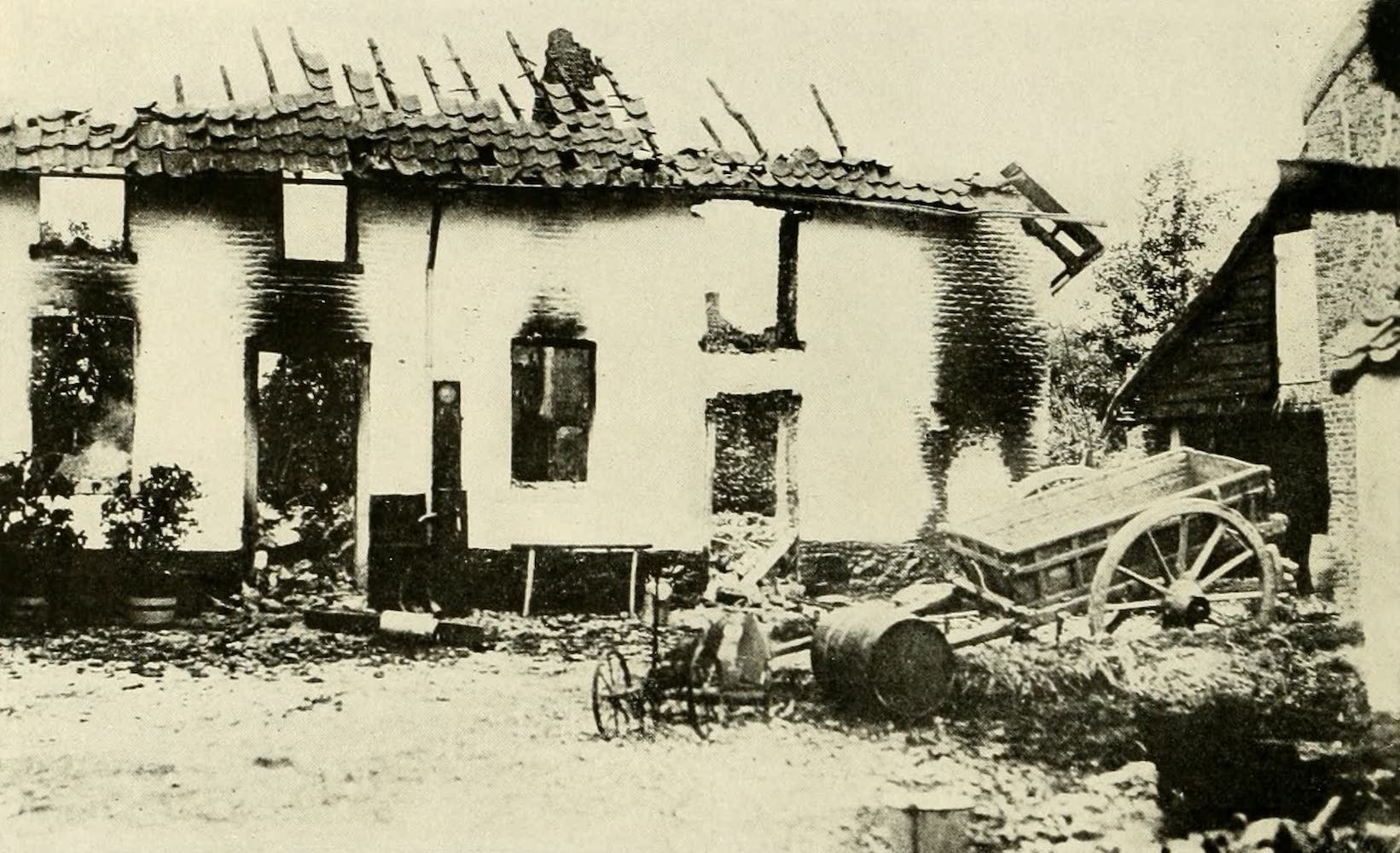 Laird & Lee's World's War Glimpses - Destroyed By the German Troops (1914)