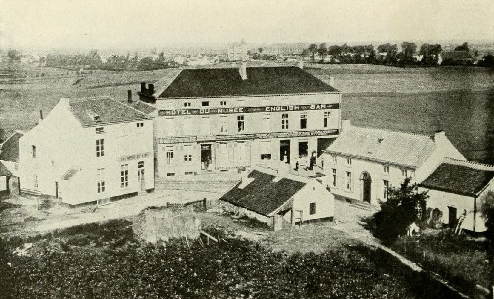 Laird & Lee's World's War Glimpses - On the Battlefield at Waterloo - The Hotel Du Musee on This Historic Battlefield (1914)