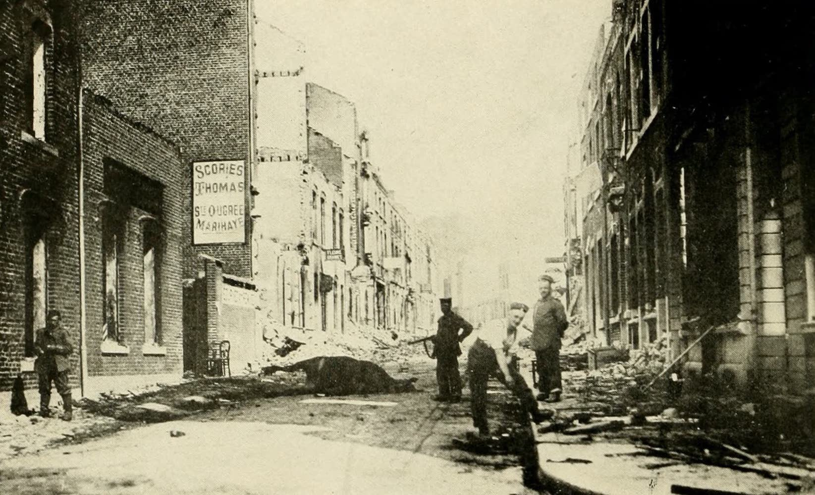 Laird & Lee's World's War Glimpses - Vise, Devastated By the Germans (1914)