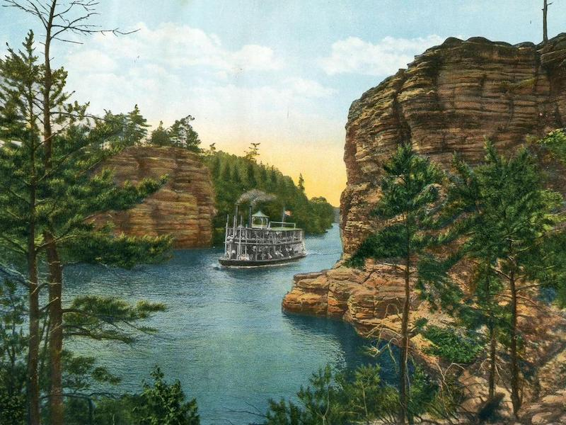 Steamboat in the Jaws of the Dells of the Wisconsin River