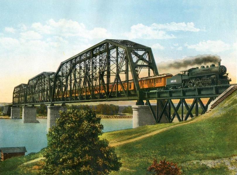 Lake Michigan to Puget Sound - Missouri River Bridge at Mobridge, S. Dak (1923)