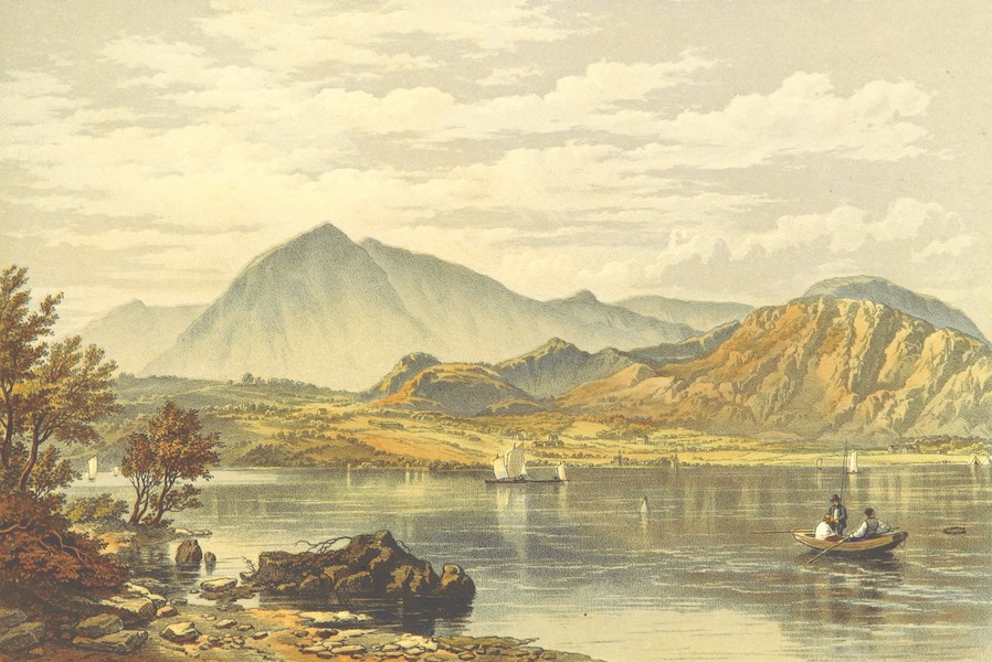 Lake Scenery of England - Coniston Water and Coniston Old Man (1859)