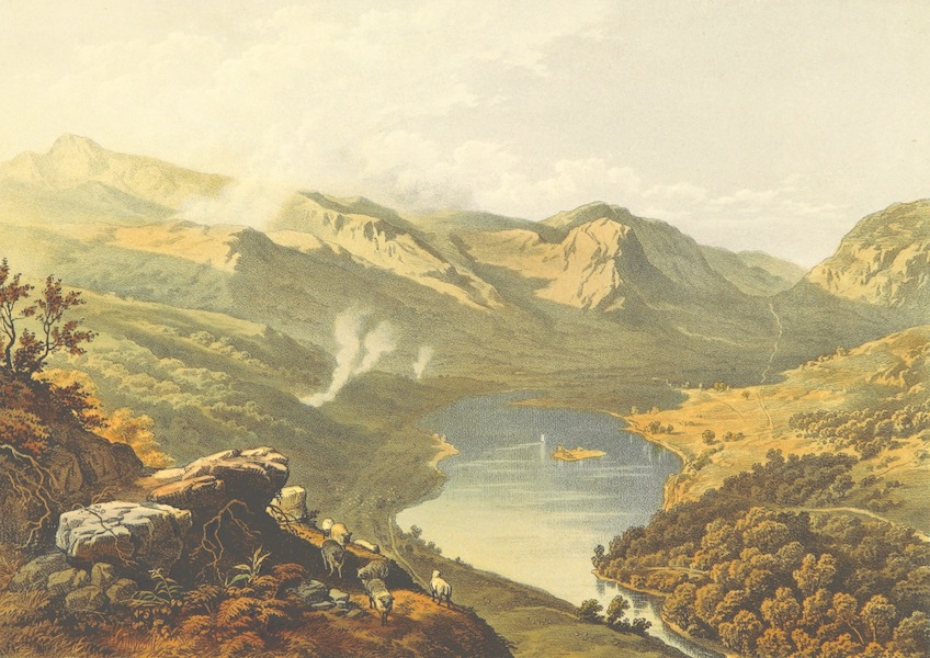 Lake Scenery of England - Grasmere from Loughrigg Fell (1859)