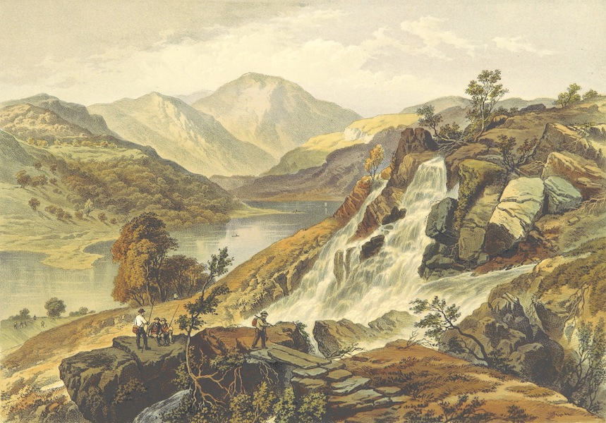 Lake Scenery of England - Hawes Water and Watergill Force (1859)