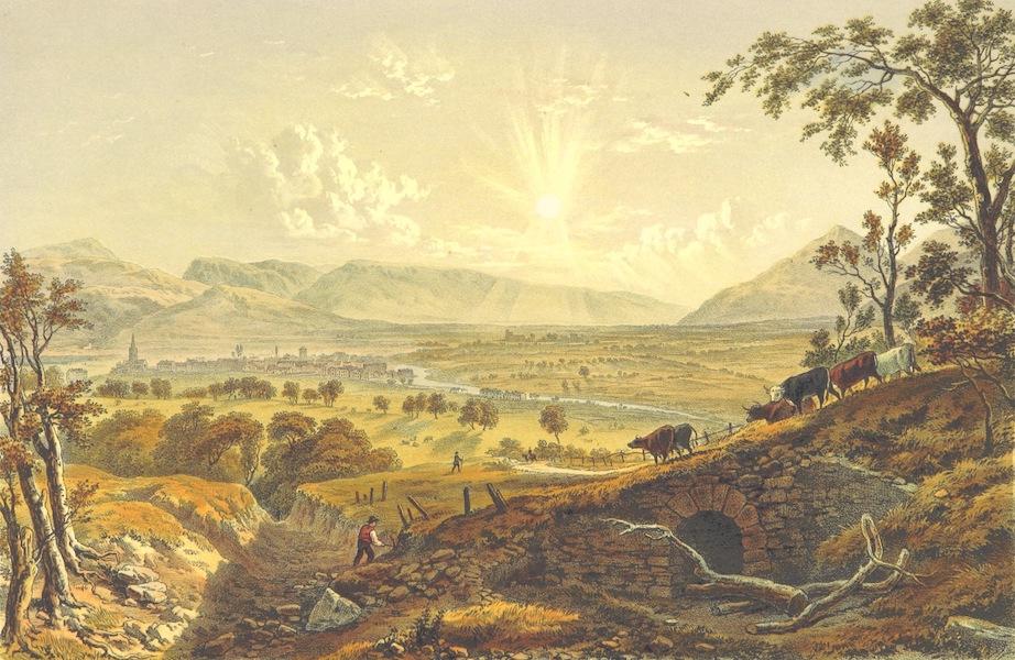 Lake Scenery of England - The Vale of Keswick, Bassenthewaite Lake and the River Greta (1859)