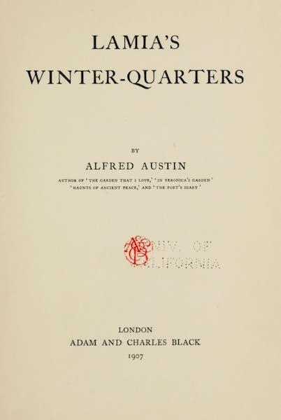 Lamia's Winter-Quarters - Title Page (1907)