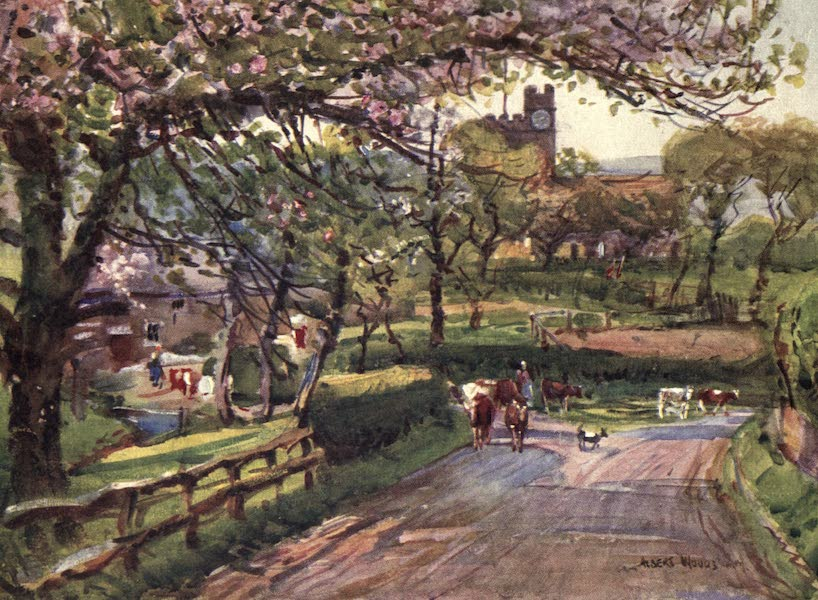 Lancashire Painted and Described - Samlesbury, in Lower Ribblesdale (1921)