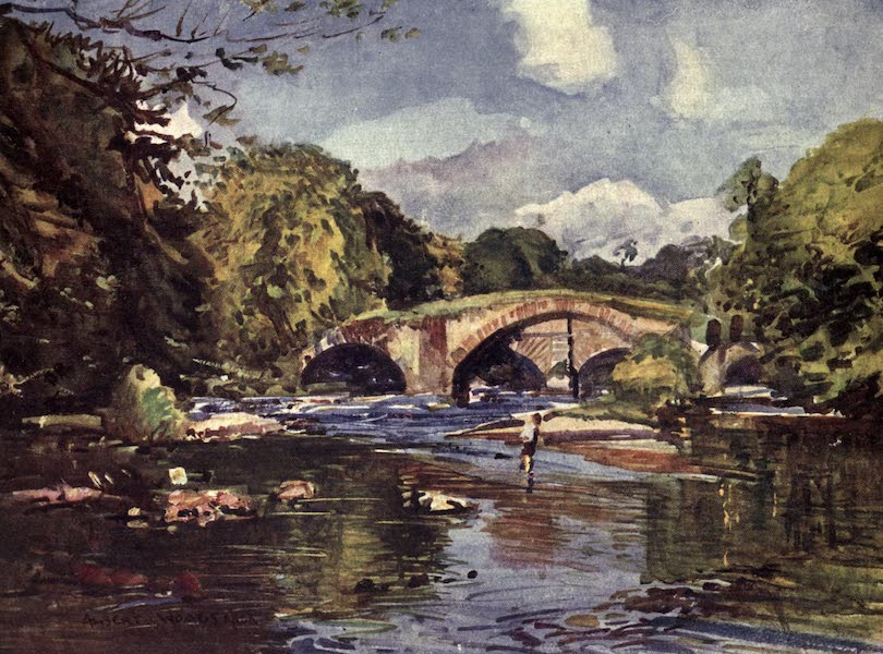 Lancashire Painted and Described - The Lower Hodder Bridges (1921)