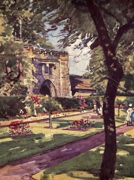 Lancashire Painted and Described - Whalley Abbey: The North-Eastern Gateway (1921)