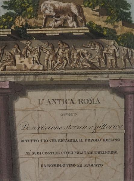 L'antica Roma, Ovvero, Descrizione Storica e Pittorica - Primo Frontispizio (1825)