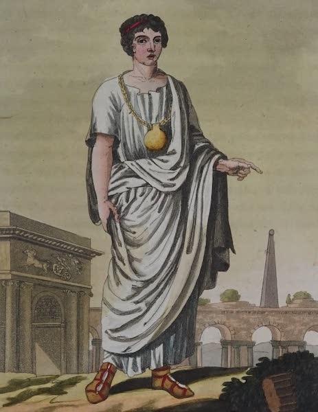 L'antica Roma, Ovvero, Descrizione Storica e Pittorica - Giovine romano di famigl. patrizia (1825)