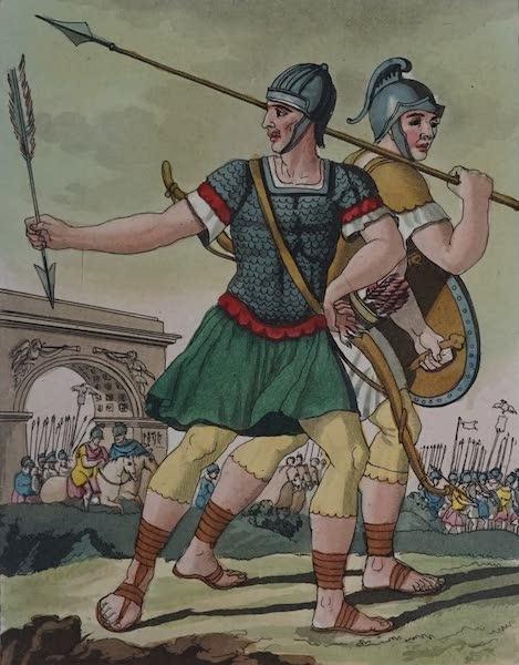 L'antica Roma, Ovvero, Descrizione Storica e Pittorica - Arcieri ed Astati (1825)