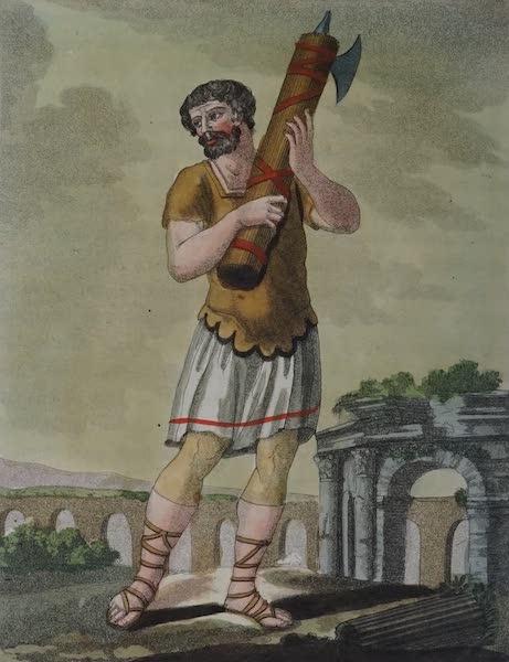 L'antica Roma, Ovvero, Descrizione Storica e Pittorica - Littore a piedi (1825)