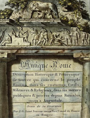 Ancient History - L'antique Rome, ou, Description Historique et Pittoresque