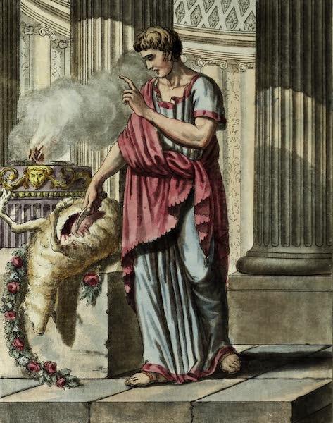 L'antique Rome, ou, Description Historique et Pittoresque - Aruspice romain (1796)