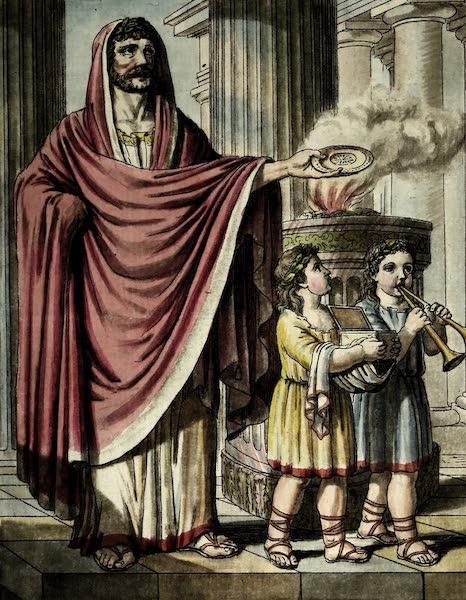 L'antique Rome, ou, Description Historique et Pittoresque - Pretre flamine (1796)
