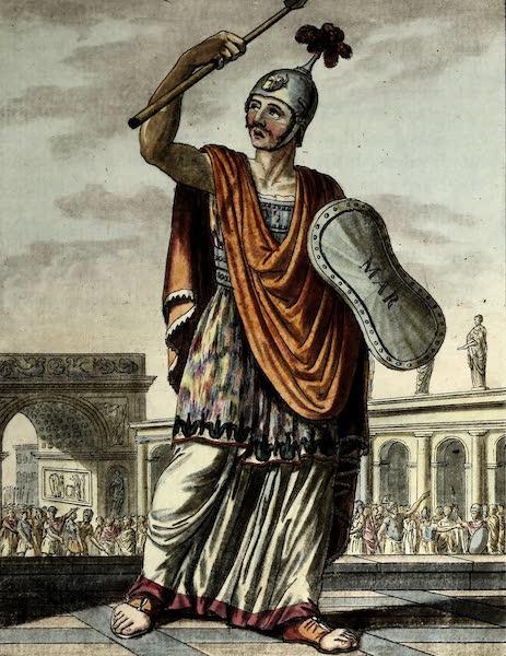 L'antique Rome, ou, Description Historique et Pittoresque - Pretre salien (1796)