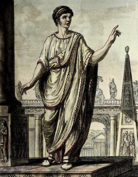 L'antique Rome, ou, Description Historique et Pittoresque - Romain postulant un emploi (1796)