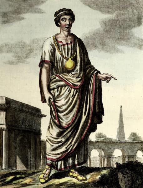 L'antique Rome, ou, Description Historique et Pittoresque - Jeune rom. famille patricienne (1796)