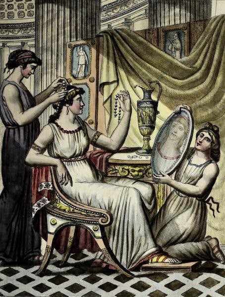 L'antique Rome, ou, Description Historique et Pittoresque - Toilette des dames romaines (1796)