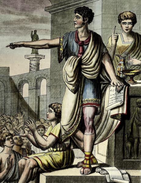 L'antique Rome, ou, Description Historique et Pittoresque - Orateur romain (1796)