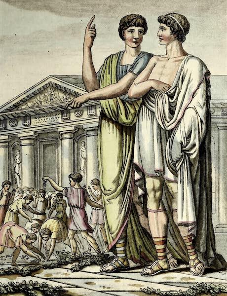 L'antique Rome, ou, Description Historique et Pittoresque - Candidat romain (1796)