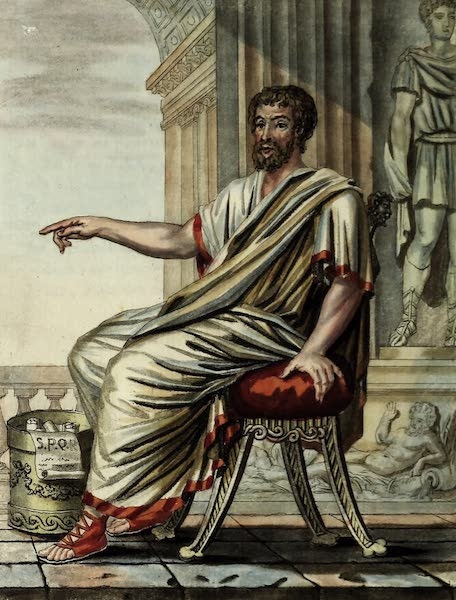 L'antique Rome, ou, Description Historique et Pittoresque - Senateur romain (1796)