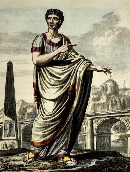 L'antique Rome, ou, Description Historique et Pittoresque - Edile romain (1796)
