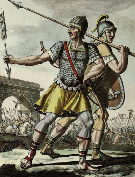L'antique Rome, ou, Description Historique et Pittoresque - Archers, hastats (1796)