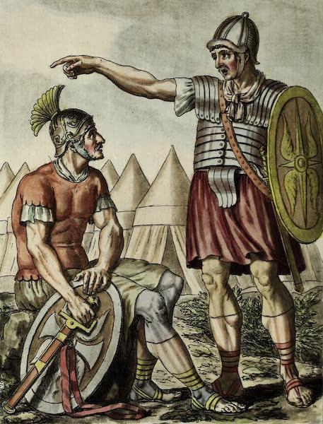 L'antique Rome, ou, Description Historique et Pittoresque - Soldats pretoriens (1796)