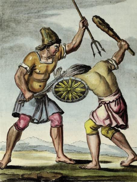 L'antique Rome, ou, Description Historique et Pittoresque - Gladiateurs-retiaires (1796)
