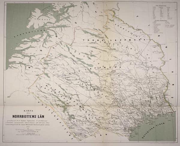 Lappland, dess natur och folk - Karta ofver Norrbottens Lan [..] Peterson, 1865 (1871)