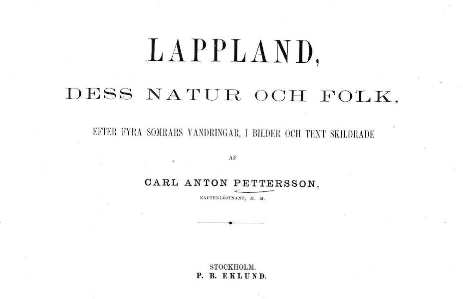 Lappland, dess natur och folk - Title Page (1871)