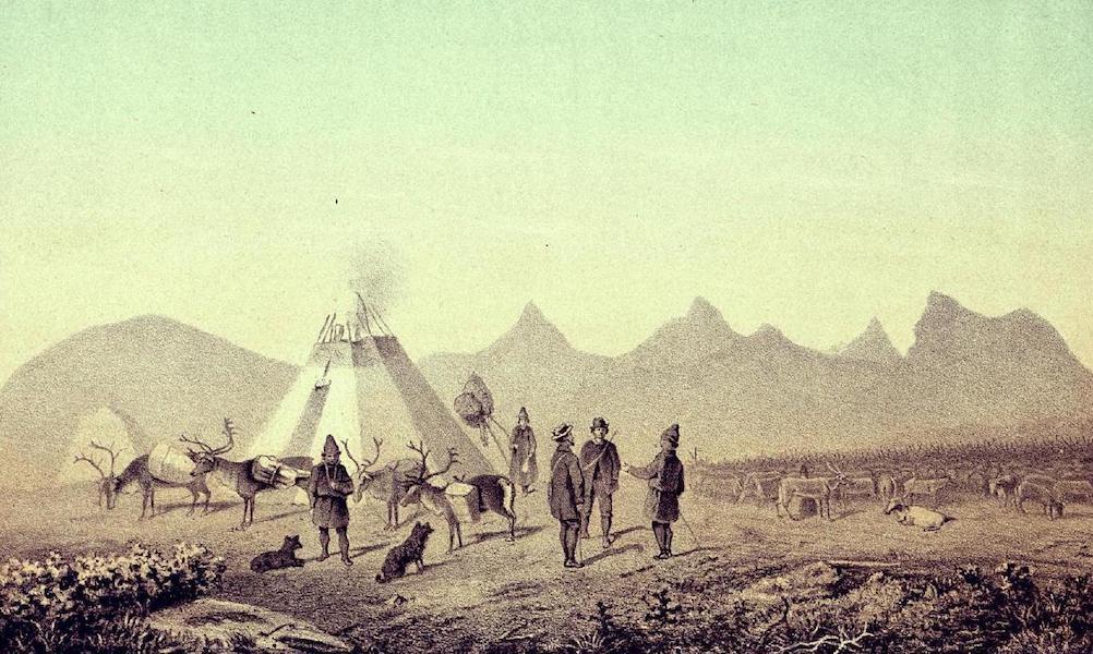 Lappland, dess natur och folk - Rast vid Allakaskaitevare (1871)