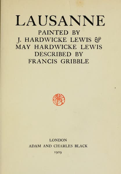 Lausanne, Painted and Described - Title Page (1909)
