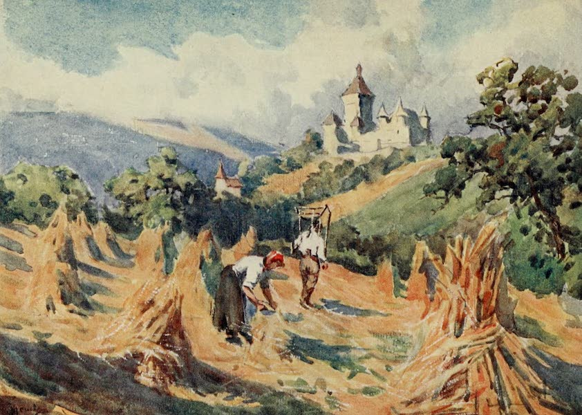 Lausanne, Painted and Described - Chateau de Vufflens, above Lausanne (1909)