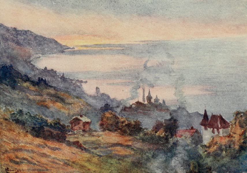Lausanne, Painted and Described - Lausanne, looking East (1909)