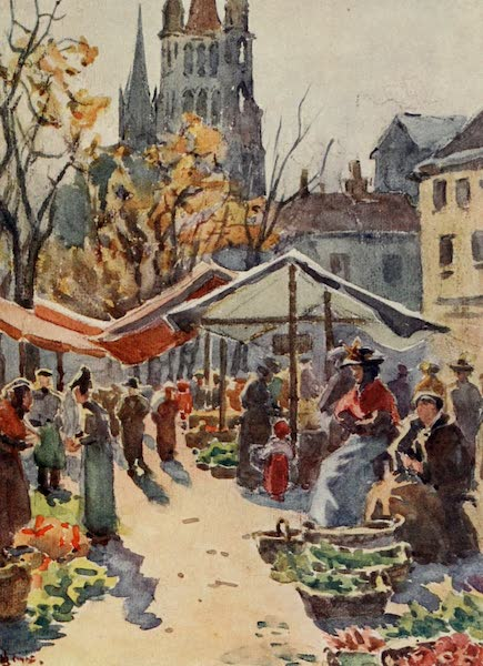 Lausanne, Painted and Described - The Market Place, Lausanne (1909)