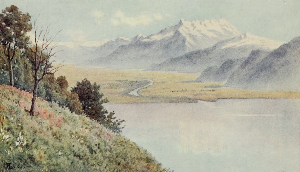 Lausanne, Painted and Described - The Rhone Valley from Mont Pelerin (1909)