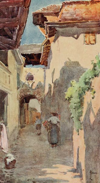 Lausanne, Painted and Described - A Street in St. Saphorin (1909)