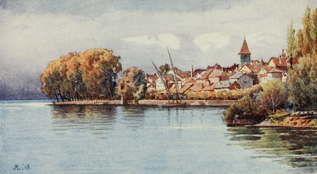 Lausanne, Painted and Described - Cully from Epesse-Autum (1909)