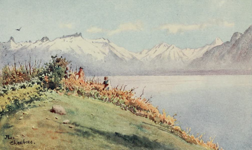 Lausanne, Painted and Described - The Rhone Valley from Chexbres (1909)