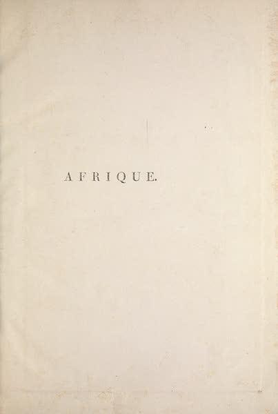 Le Costume Ancien et Moderne [Afrique] Vol. 1 - Title Page (1815)