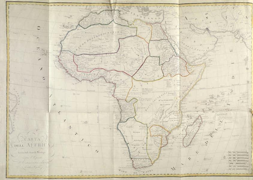 Le Costume Ancien et Moderne [Afrique] Vol. 1 - Carte geographique de l'Afrique (1815)