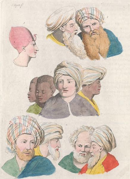 Le Costume Ancien et Moderne [Afrique] Vol. 1 - Tetes des habitans de l'Egypte (1815)