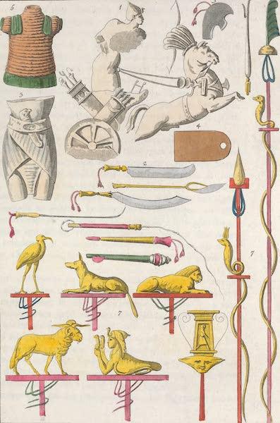 Le Costume Ancien et Moderne [Afrique] Vol. 1 - Armes des anciens Egyptiens (1815)
