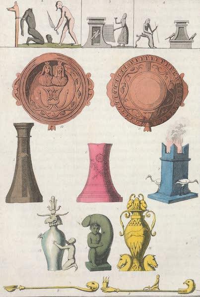 Le Costume Ancien et Moderne [Afrique] Vol. 1 - Autels, vases, pateres et autres ustensiles sacres (1815)